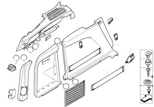 Verkleidung Gepäckraum seitlich