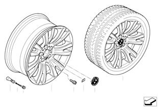 Л/c диск BMW с V-образными спицами 223