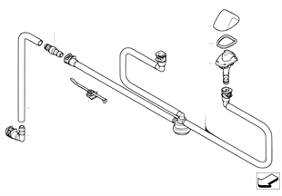 Single parts for head lamp cleaning