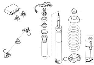 Federbein hinten EDC/Steuergerät/Sensor