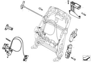 Seat, front, electrical/motors, backrest