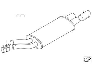BMW Performance rear muffler