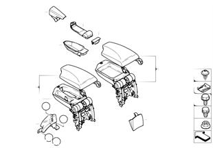 Retrofit equipm. armrest center console