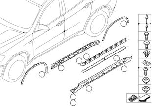 Trim, rocker panel/wheel arch footboard