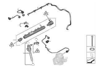 Régua de alta pressão/injector/tubo