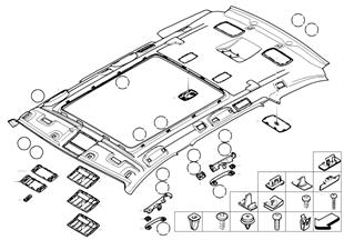 Headlining / Handle Panoramic roof