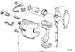 Датчик износа торм.накладки пер.колеса