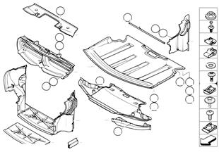 Pantalla compartimento motor/canal aire