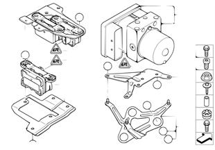 Grupo hidráulico DSC/fixação/sensores