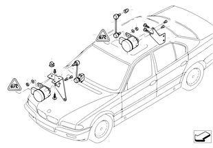 Snímač regulace sklonu světlometů