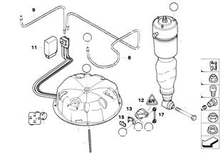 高度調節空氣減震支柱/傳感器
