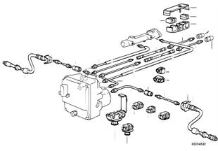 F ブレーキ ライン ABS/ASC+T
