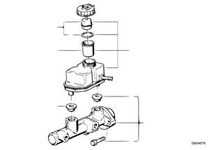 Cilindro maestro freno/serbatoio compens