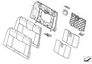 座椅 後部 座墊和座套 通入式裝載系統