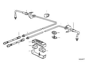 Tubazione freno posteriore abs/asc+t