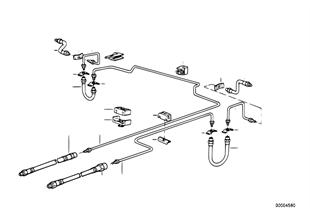 制動管路 後部 ABS/ASC+T