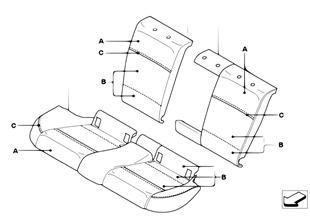 Individual through-loading seat, rear, LC