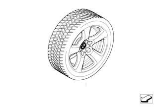 Winter wheel and tyre, star spoke 243