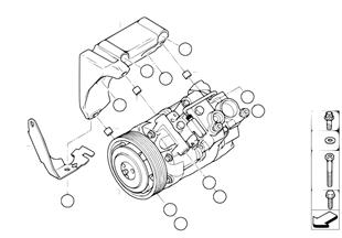 Compresseur d climatiseur/pcs de montage