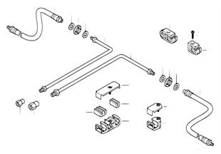 Tubo de travão traseiro ABS/ASC+T