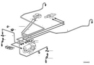 Tuyau de frein avant abs/asc+t