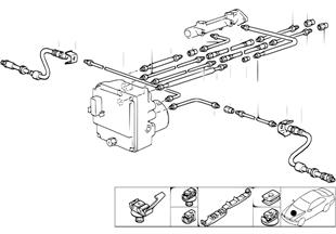 Bremsleitung vorne ABS/ASC+T