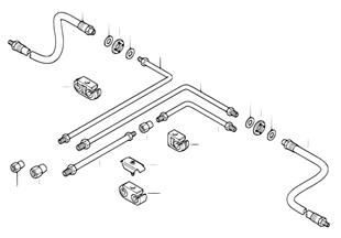 Bremsleitung hinten ABS/ASC+T