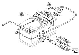 蓄電池導線 / 配電器 後部