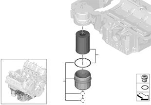 Sistema de lubrificação-filtro de óleo