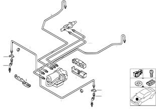 Tubazione freno anteriore abs/asc+t