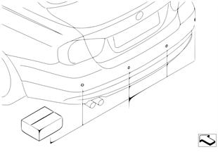 Kit postmontaggio PDC posteriore