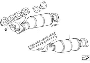 Выпускной коллектор с катализатором