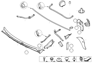 Various mounted parts