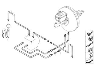 Brzdové potrubí přední protipr. regulace