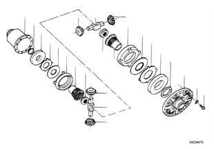 Limited slip diff.unit-single parts