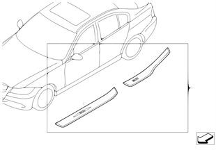 加裝套件 不鏽鋼登車護板