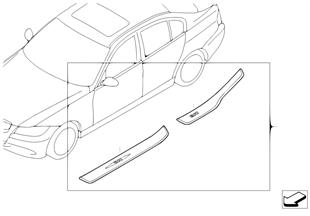 Kit 2. monte barre de seuil acier inox
