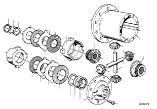 Limited slip diff.unit-single parts