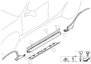 Накладка порога / арки колеса, подножка