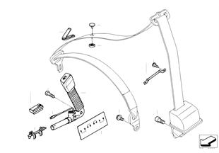 Bezpečnostní pás montážní díly přední