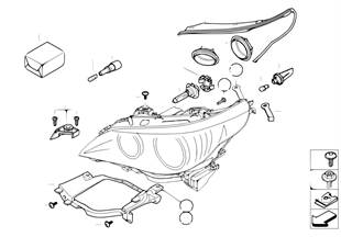 Componentes para faro halogeno