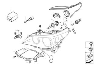 Individual parts for halogen headlamp