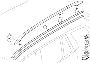 Moulures de toit/Support de galerie