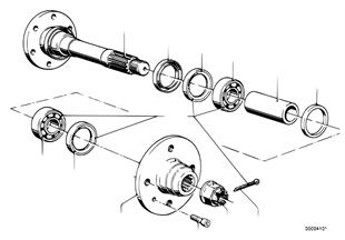 Arbol deleje trasera/soporte de rueda