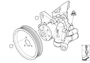 Pompe d servo-direction/Direction active