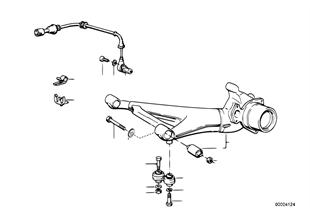 Arka aks traversi/Tekerlek süspansiyonu