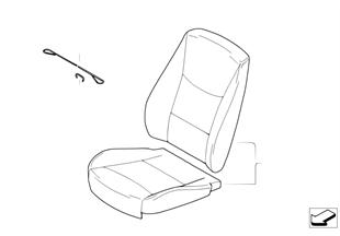 皮革加裝 標準座椅 前部