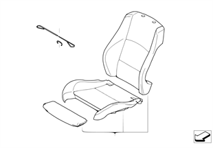 皮革加裝 跑車座椅 前部