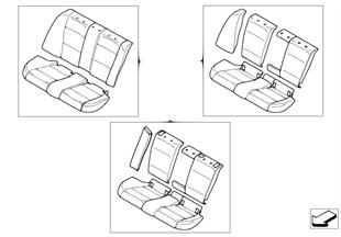 Postmontaggio pelle  sedile posteriore