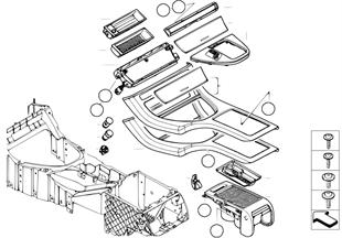 Доп.элементы центральной консоли